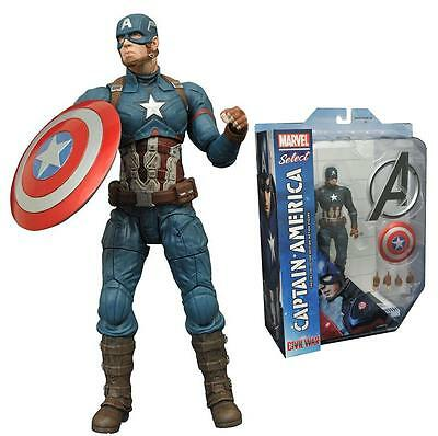 MARVEL SELECT Civil War Official Licensed CAPTAIN AMERICA Figure Set Avengers