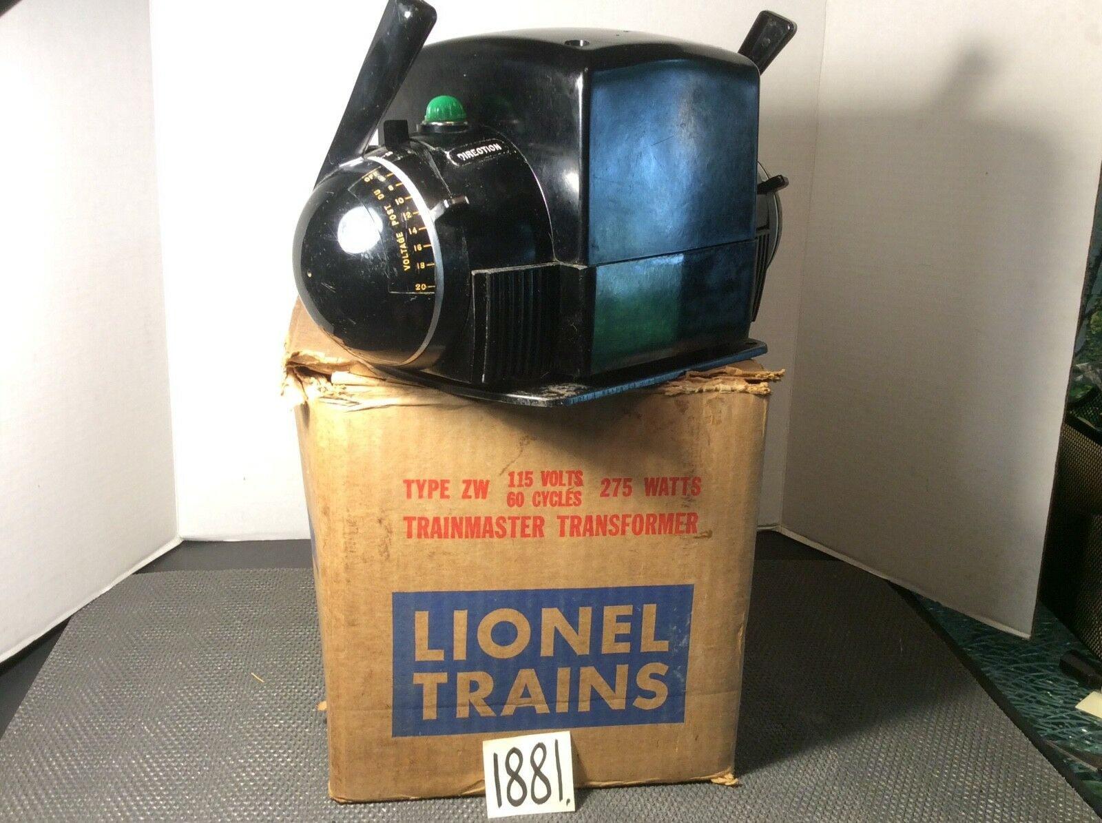 VINTAGE 1953 LIONEL TYPE ZW 115 Volts, 60 Cycles, 275Watt In OB.