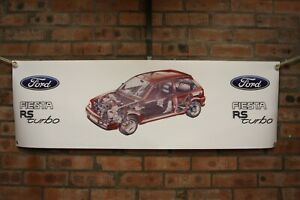 Ford-Fiesta-mk3-RS-Turbo-grosse-PVC-Banner-Garage-Classic-Show-Banner