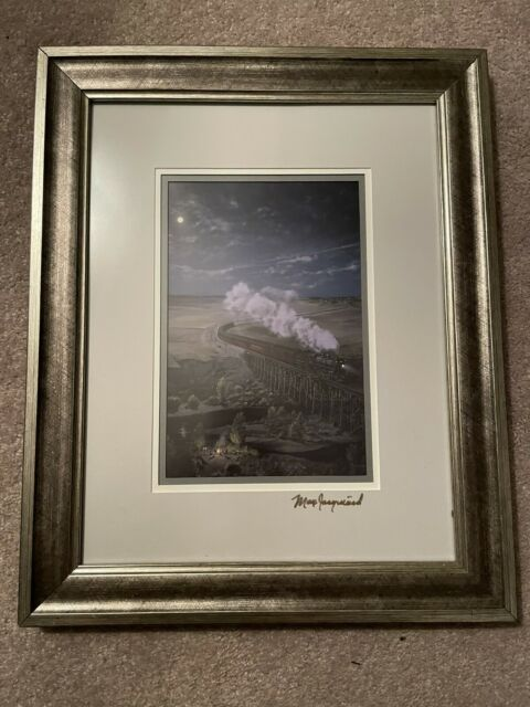 "Signed 9"" X 6"" Max Jacquiard Print - Canadian Pacific Railway, Locomotive 2572"