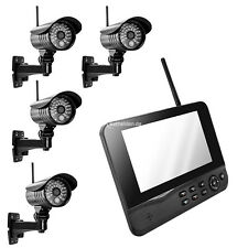 MT Vision Funk Videoüberwachung HS400 Überwachungssystem Funküberwachung 4Kamera