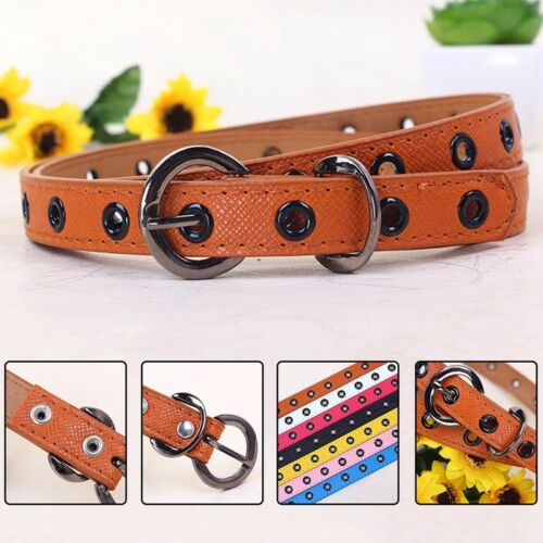 Candy Color Children Kids Boys Girls Adjustable Thin Belt Hollow Waistband Great