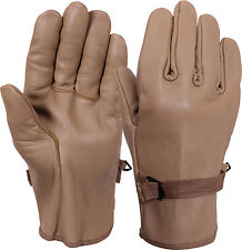 Coyote Brown D-3A Gloves Military Style Leather Work Gloves Rothco 3183