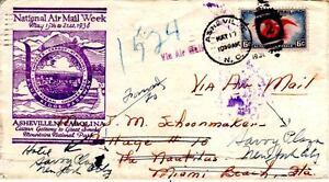 Flugpost-Brief 1938 zur Nationalen Luftpost Woche Asheville, Sehr Selten!!! - Berlin, Deutschland - Flugpost-Brief 1938 zur Nationalen Luftpost Woche Asheville, Sehr Selten!!! - Berlin, Deutschland