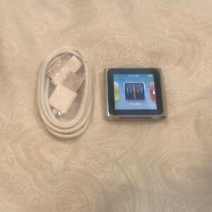 Apple Ipod Nano 6th Generation Silver 16 Gb Bundle Good Condition Ebay