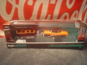Collectors-Maisto-Design-Tow-amp-Go-1955-Buick-Century-Alameda-Trailer-Mint-In-Box