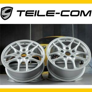TOP-ORIG-Porsche-986-Boxster-S-II-17-034-Felgen-Satz-7J-ET55-8-5J-ET50-wheel-set
