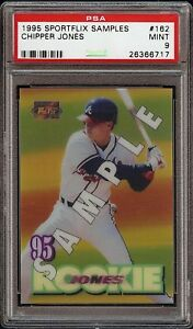 Rare-1995-Sportflix-Samples-162-Chipper-Jones-PSA-9-Mint-HOF