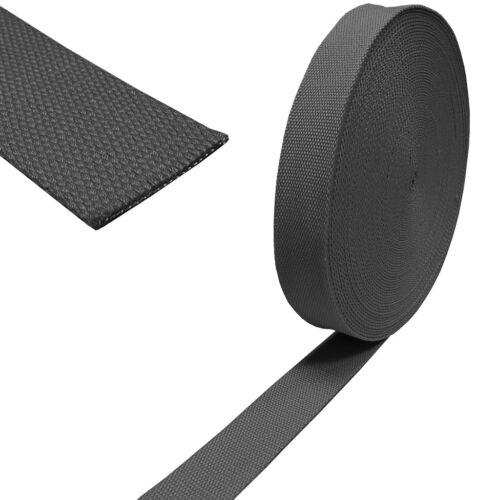 3.90 EUR//Meter Baumwoll Taschengurt Gurtband 40mm dunkelgrau