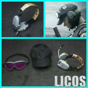 Game-Tom-Clancy-039-s-Rainbow-Six-Siege-Cosplay-Earphone-Goggles-Hat-PVC-Cos-Props