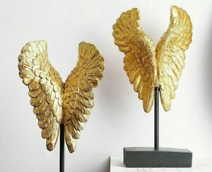Gold Feather Resin Home Decoration Living Room Bedroom Desk Accessories Ebay