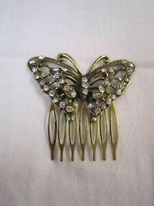 Women-Butterfly-Crystal-Rhinestone-Pearl-Hair-head-Pin-comb-jewelry-wedding