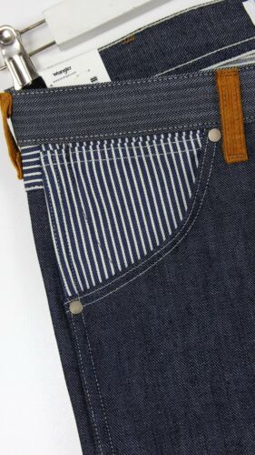 NEW WRANGLER by PETER MAX  RETRO SELVEDGE DRY RAW DENIM STRAIGHT JEANS  L32//L34