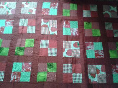 Bettüberwürfe & Tagesdecken Rote Tagesdecke, Patchworkdecke, Handarbeit