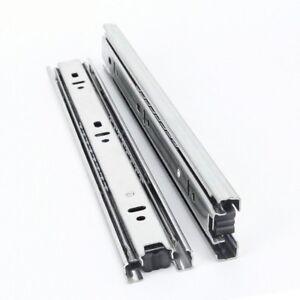 Details zu 1 Paar Stahl Schublade Schienen Leise Puffer Kugellager Schrank  Ausstattung