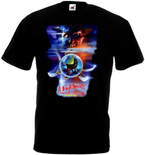 A Nightmare On Elm Street 5 v5 T-shirt black poster all sizes S...5XL