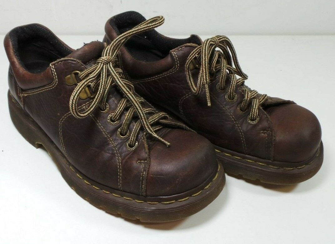 Dr Doc Martens Men's Brown Oxford Leather Loafers shoes Size 8 Doctor