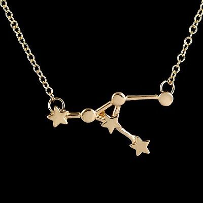 FREE GIFT BAG Silver Plated VIRGO Zodiac Sign Astrology Necklace Constellation