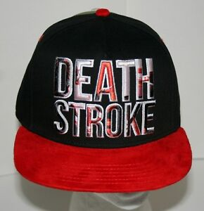 buy online 78d82 39fae Image is loading Rare-WB-DC-Comics-DeathStroke-Baseball-Cap-Hat-