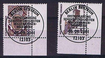 Bund Minr 2210 + 2211 Gestempelt Mit Ersttagsstempel Aus Abo Unterer Eckrand NüTzlich FüR äTherisches Medulla