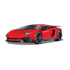 Bburago 21079 Lamborghini Aventador Lp 750 4 Sv Red Scale 1 24 Model