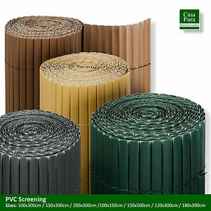 Image Is Loading PVC Screening Fence Slat Fencing Garden Privacy Screen