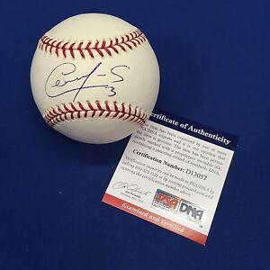 Cesar Izturis Signed Official Major League Baseball *Dodgers* PSA D13057