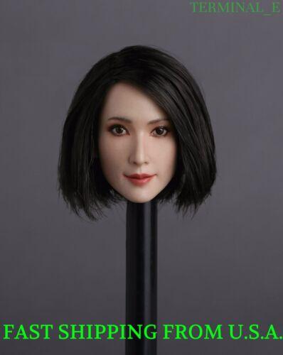"""1//6 Asian Female Head Sculpt cheveux court GC008C pour 12/"""" TBLeague Figure ❶ USA ❶"""