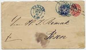 1867-Berlin-to-Posen-Prussia-Stationary-Cover-Germany