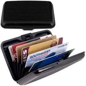 Aluminum-Credit-Card-Wallet-RFID-Blocking-Case-Black