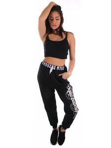 CINC-Jeans-Damen-Fleece-Jogginghose-American-College-Style-mit-Schriftzug-1034