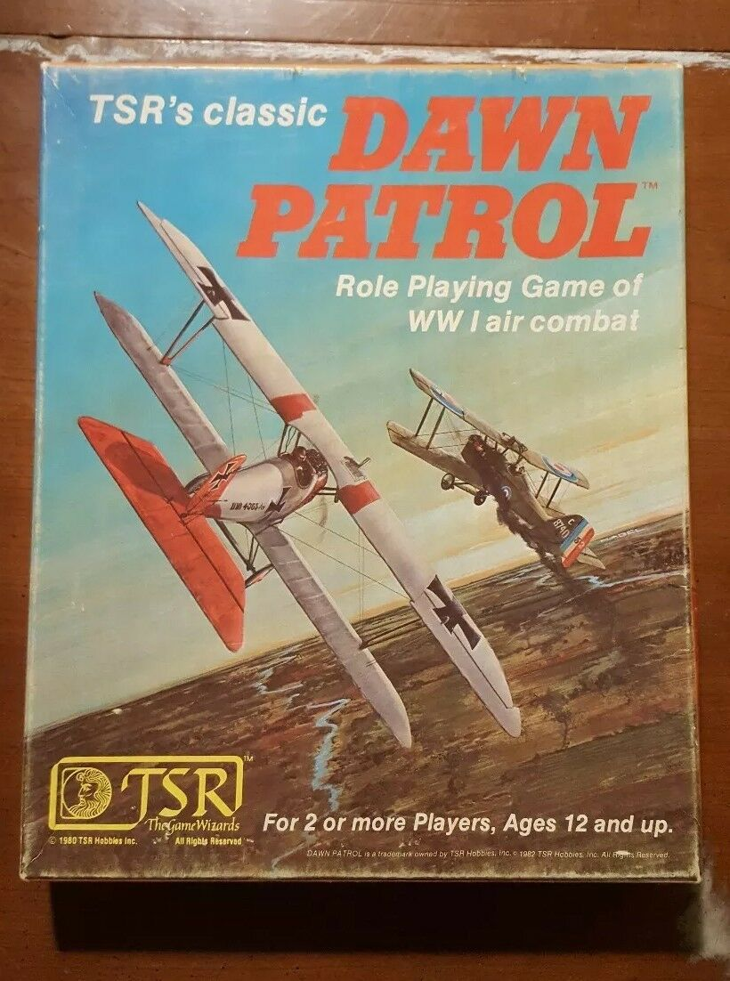 DAWN PATROL WWI Air Combat Dogfighting RPG (1982) from TSR   VGC