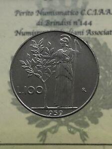 Repubblica-Italiana-100-Livres-Minerva-I-Type-1959-FDC-Evalue