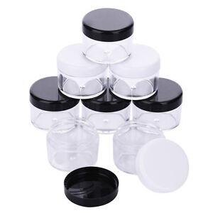 12pcs-20g-20-gram-Large-empty-clear-plastic-Sample-cream-makeup-Jar