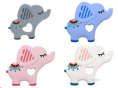 Baby Boy Girl Silicone Elephant Baby Teether Massage Gums Teething Chew Toy Gift