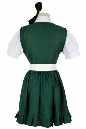 Super Dangan Ronpa Danganronpa Sonia·Nevermind Green Dress Cosplay Costume#632
