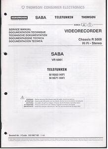 Service-MANUAL-r5000-Saba-VR-6081-quadro-immagini-e-note-di-servizio-95-pagine