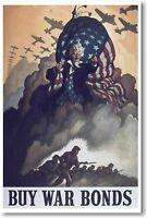 Buy War Bonds - Vintage Ww2 Reproduction Art Print - Poster