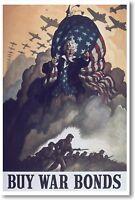 Buy War Bonds - Vintage Ww2 Reproduction Art Print - Poster
