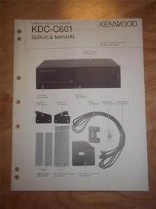 kenwood service manual kdc c601 cd changer player car audio original rh ebay com Bose DVD CD Player Bose CD Player Repair Service