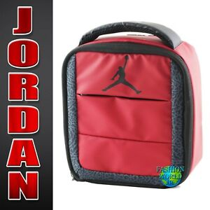 a5d694474aa2 Nike Air Jordan All World Lunch Box Bag Tote Insulated 9A1728 Red ...