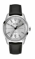 Bulova Accu Swiss Men's 63B176 Murren Automatic Black Leather Strap 40mm Watch
