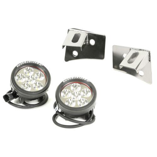 Fits Jeep Wrangler JK 07-18 Stainless Lights Brackets Windshield  11028.11
