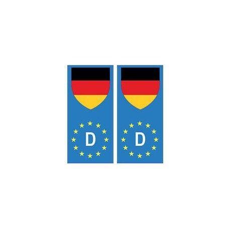 Allemagne Deutschland europe drapeau Autocollant droits
