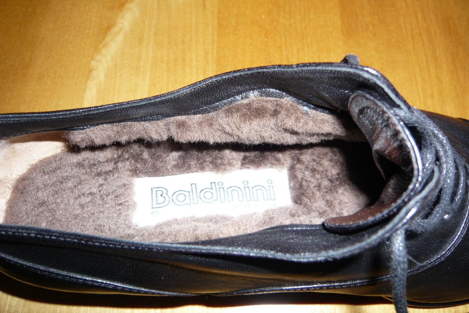 BALDININI Made In Italy  Schwarze Halbschuhe Mit Mit Mit Fell Gefüttert Gr.40  NEU 011707