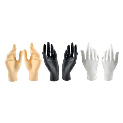 6pcs Female Mannequin Jewelry Hand Display Stand Plastic Mixed Color