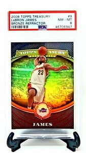 2008-Topps-Treasury-Bronze-REFRACTOR-999-LEBRON-JAMES-Card-PSA-8-NM-MINT-Pop-20