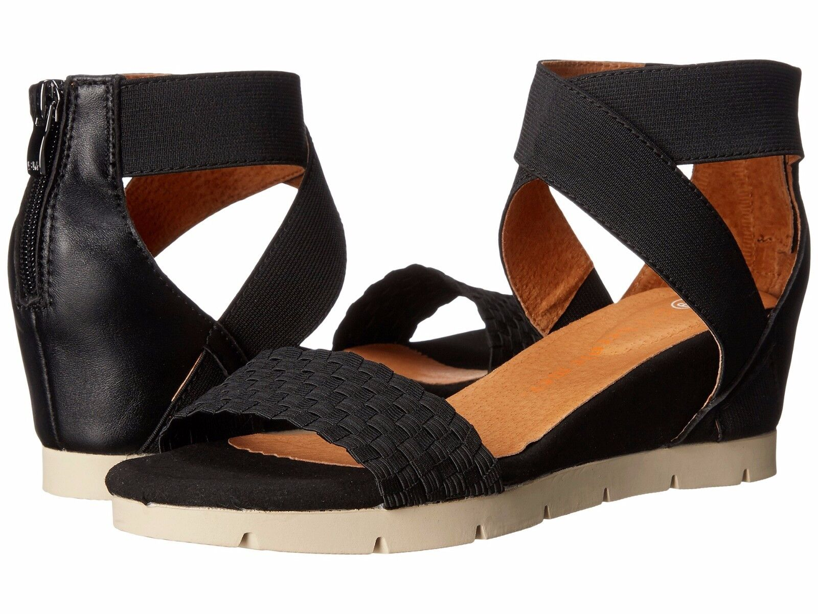 Women's shoes Bernie Mev August Crossed Ankle Ankle Ankle Strap Sandal Black New 21fc8b