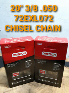 "2 PACK 20/"" Oregon HUSQVARNA 390 XP Chainsaw 3//8 .050 Chisel Chain 72EXL072"