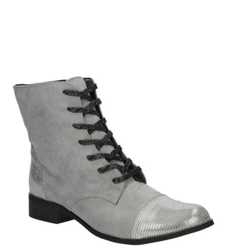 Damen Boots Stiefel Flach Winterschuhe Schnürer Komfortable Gr 35-40 NEU
